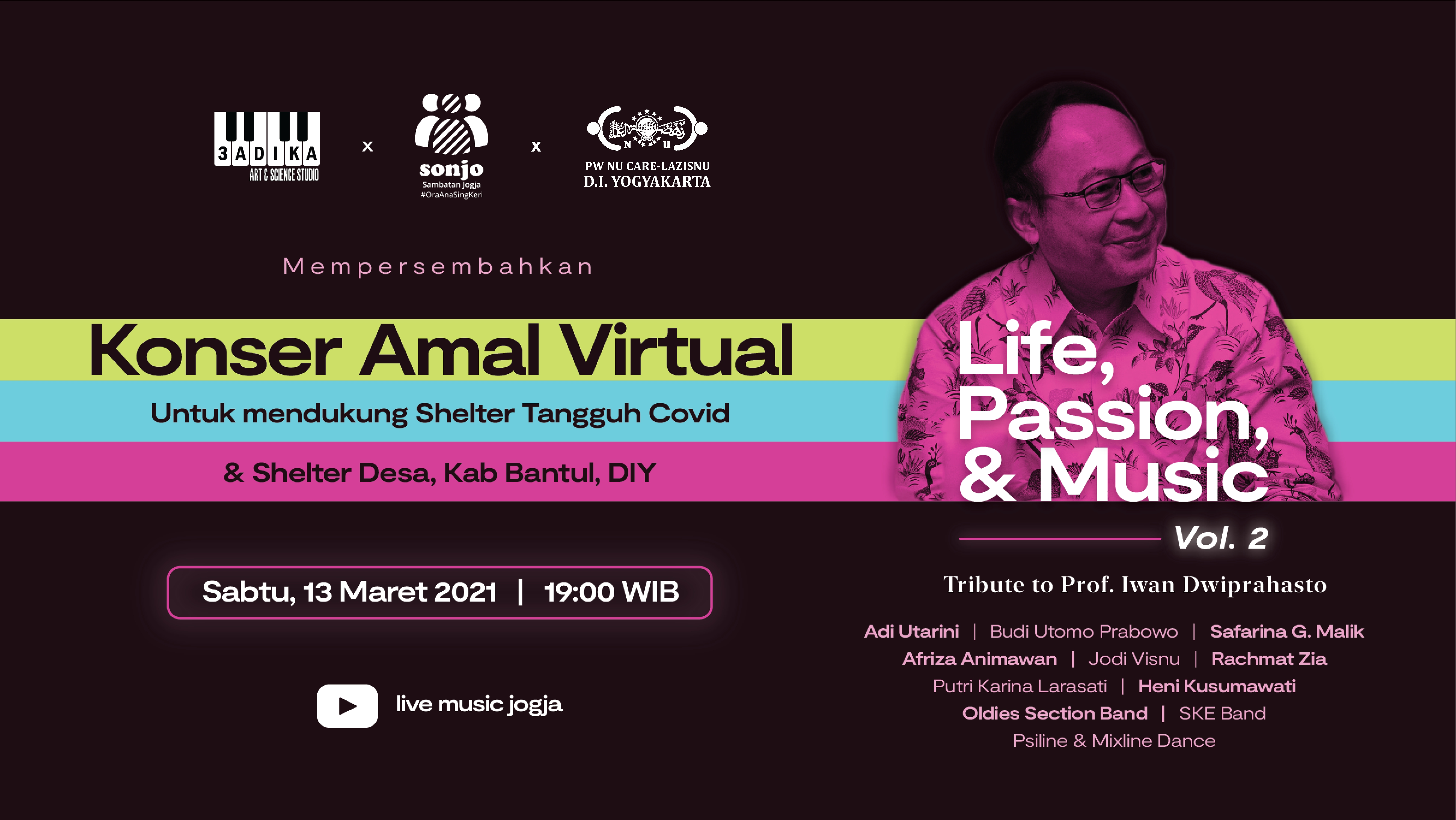 Konser Amal Virtual (Home Concert) untuk Covid-19