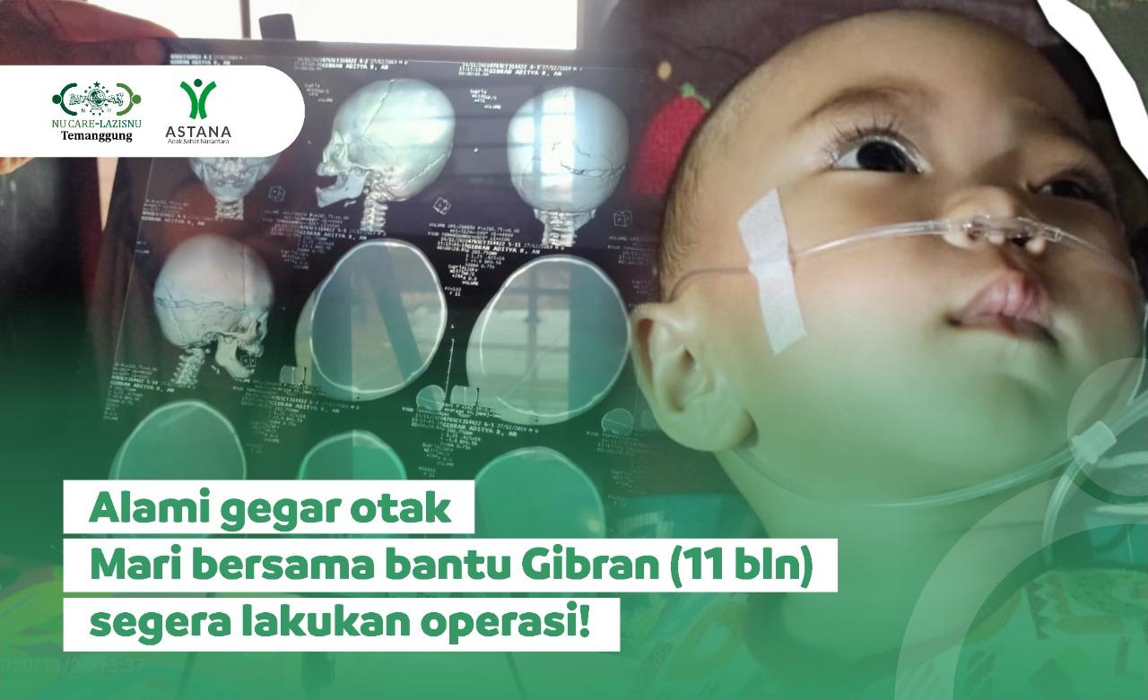 Bantu Gibran Segera Operasi Akibat Gegar Otak