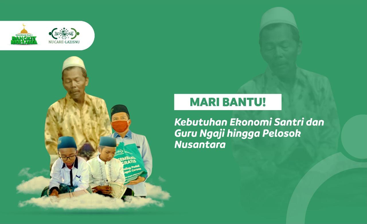 Ramadhan Bangkit bersama Santri dan Guru Ngaji